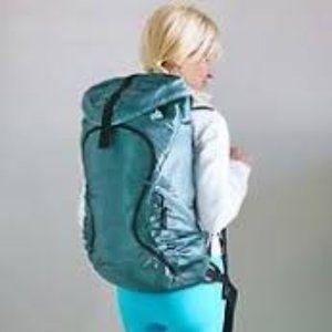 Lululemon Green Satin Backpack Starlet Dance Bag